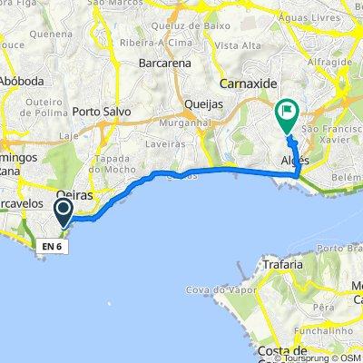Rua Piedade Franco Rodrigues 2, Oeiras to Rua Mário Viegas, Algés