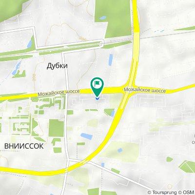 От улица Михаила Кутузова, 7, Одинцово до улица Михаила Кутузова, 7, Одинцово