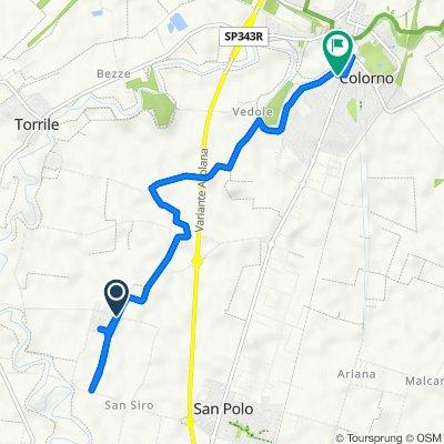 Da Via Palmiro Togliatti, Sant'Andrea a Mane a Via Giovanni XXIII 11, Colorno