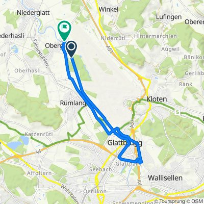 Route nach Grafschaftstrasse 1, Oberglatt ZH