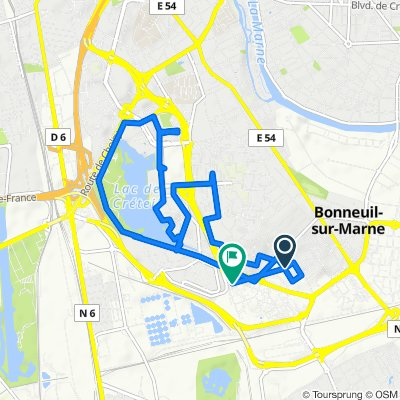 Route from Rue Fernand Widal 5, Bonneuil-sur-Marne