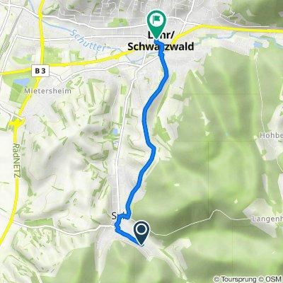 Waldstraße 56, Lahr/Schwarzwald nach Kreuzstraße 13–14, Lahr/Schwarzwald