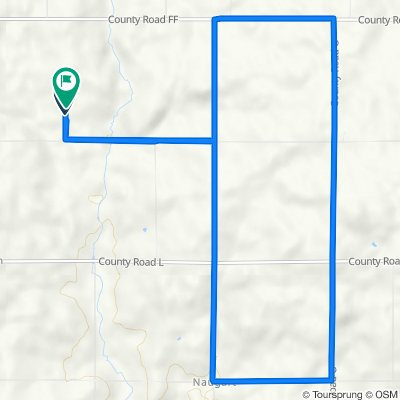 Route to 14000 Rainbow Dr, Merrill