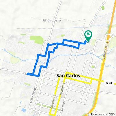 De Héctor Herrea Herrera 660, San Carlos a Héctor Herrea Herrera 659, San Carlos