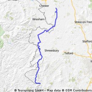 Day 6 - (Thurs 4/8) Bucknell to Tarporley