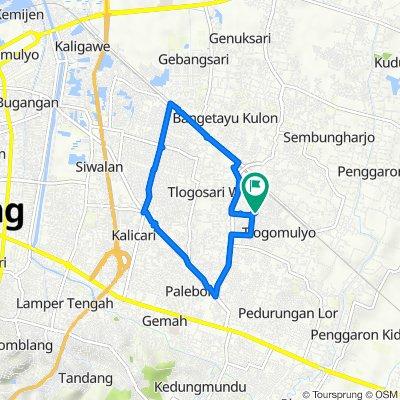 Jalan Selo Mulyo Mukti Timur VI 444, Kecamatan Pedurungan to Jalan Selo Mulyo Mukti Timur VI 444, Kecamatan Pedurungan