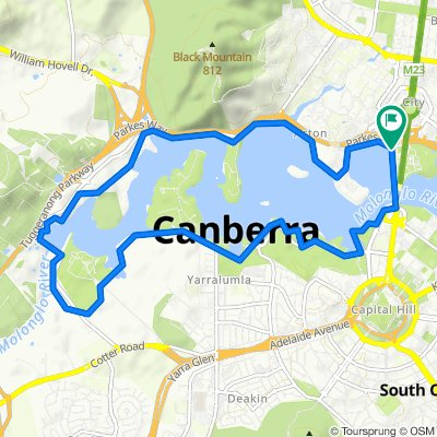 Lake Burley-Griffin CLONED FROM ROUTE 282895(perfect for E-bike)