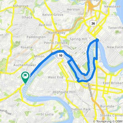 Bicentennial Bikeway, Toowong to 570 Coronation Drive, Toowong(perfect for E-bike)
