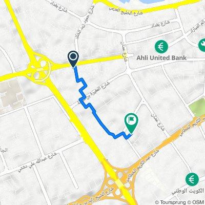 السالمية to شارع ابوهريرة جادة 7 23, السالمية
