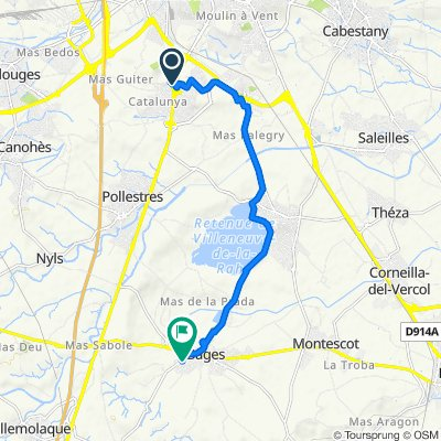 De Route d'Espagne, Perpignan à 19 Impasse du Mistral, Bages