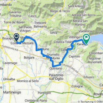 Da Via Santissimo Redentore 2–4, Bagnatica a Viale Dottor Aldo Madruzza 33, Paratico