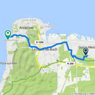 De 15 Allée des Pins de la Ruade, Gujan-Mestras à 251–257 Boulevard de la Côte d'Argent, Arcachon