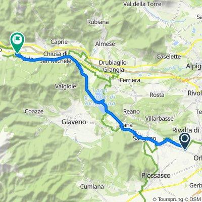 Via Piossasco 147, Hella to Via Roma 11, Sant'Antonino di Susa
