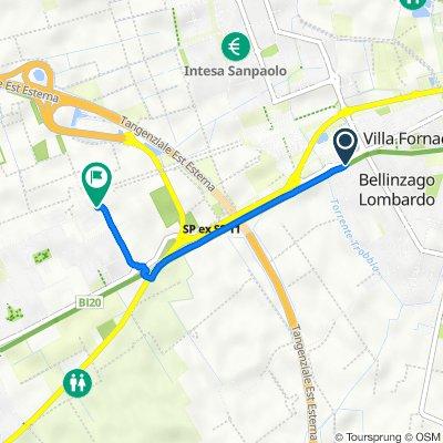 Da Via Venezia 6, Bellinzago Lombardo a Cascina Antonietta, Gorgonzola