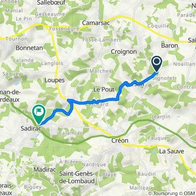 De D20e2, Baron à 6 Chemin Côte de Pomadis, Sadirac