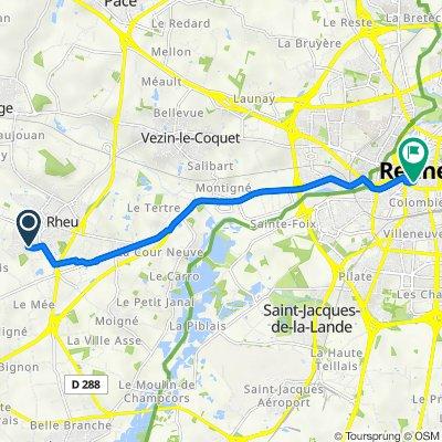 De 9 Rue de la Rabine, Le Rheu à 30 Rue Poullain-Duparc, Rennes