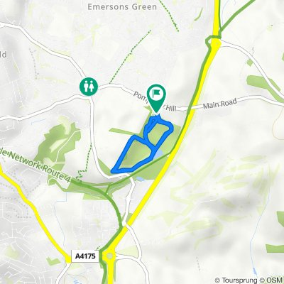 Route to Pomphrey Hill, Mangotsfield, Bristol