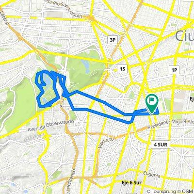 De Eje 3 Sur Bajá California 125, Ciudad de México a Calle Tenango 19, Ciudad de México