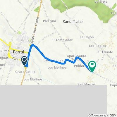 De Camino a Catillo, Parral a Cruce Ruta 5 (Parral) - San Pablo, Retiro