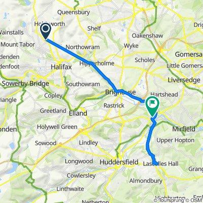 19, Moorside Gardens, Halifax to Fearnley Mill, 37 Fearnley Mill Dr, Huddersfield