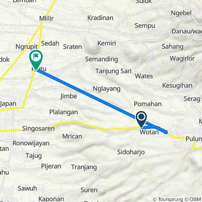 Route to Jalan Serayu no.30, Kecamatan Jenangan
