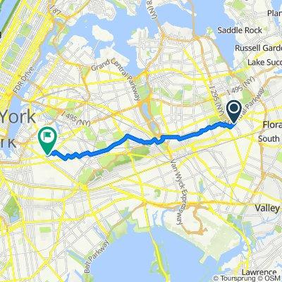 212-51 Hillside Ave, New York to 156–198 Stanwix St, New York
