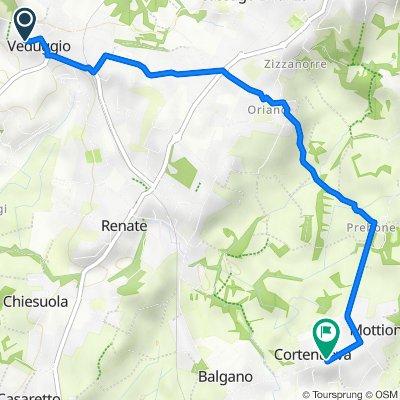 Via Vittorio Veneto 1, Veduggio con Colzano to Via Francesco Baracca, Cortenuova