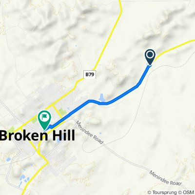18817 Barrier Highway, Broken Hill to 48–54 Garnet Street, Broken Hill(Perfect For Electric Bike)