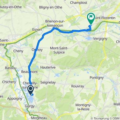 De 2 Rue des Étangs, Chemilly-sur-Yonne à 2 Rue des Bruyères, Saint-Florentin
