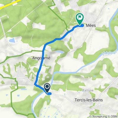 De 138 Impasse du Vimport, Tercis-les-Bains à 253 Impasse Poupy, Mées