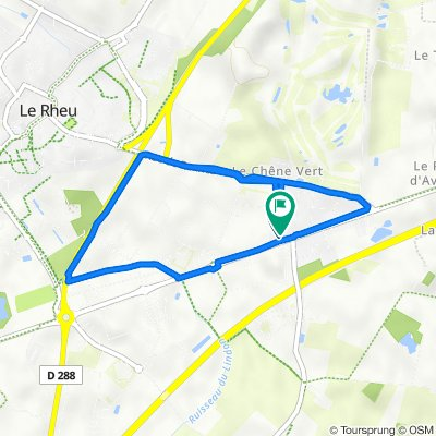 De 2 Rue des Pins, Le Rheu à 4 Rue des Pins, Le Rheu
