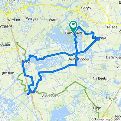 De Pontjesroute (45 km) Eernewoude | Nationaal Park De Alde Feanen (fietsroute: 1399989) - route.nl