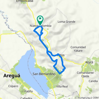 De Ruta Nueva Colombia - Loma Grande a Ruta Nueva Colombia - Loma Grande