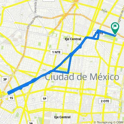 De Calle Heroico Congreso de la Unión 125, Ciudad de México a Calle Plomo 274, Ciudad de México