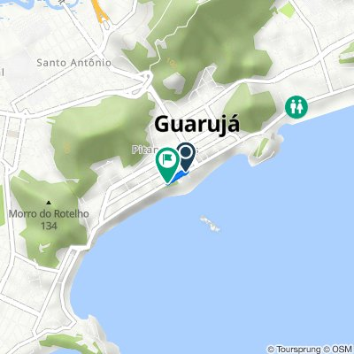De Rua Benjamin Constant, 139, Guarujá a Avenida Marechal Deodoro da Fonseca, 1050, Guarujá