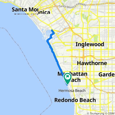 230 33rd St, Hermosa Beach to 227 Longfellow Ave, Hermosa Beach