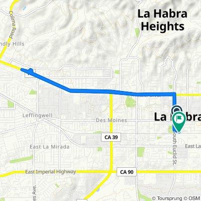 110 E La Habra Blvd, La Habra to 396 S Murcia Ct, La Habra