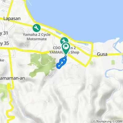 J.R. Borja Street Extension, Cagayan de Oro City to J.R. Borja Street Extension, Cagayan de Oro City
