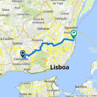 Rua Aquilino Ribeiro 2E, Carnaxide to Alameda dos Oceanos, Lisbon