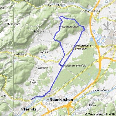 Ternitz - Bad Fischau - Dreistetten - St.Egyden - Ternitz