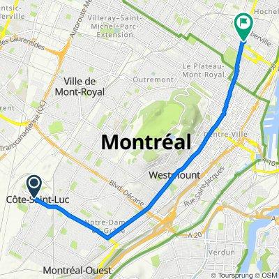 5875 Boul Cavendish, Côte-Saint-Luc to 2424 Rue Parthenais, Montréal