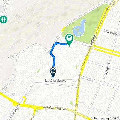 De Cerrada Galio 5–11, Ciudad de México a Avenida Xochitlan S 88–92, Ciudad de México