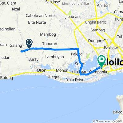 Unnamed Road, Oton to M.H del Pilar Street, Iloilo City