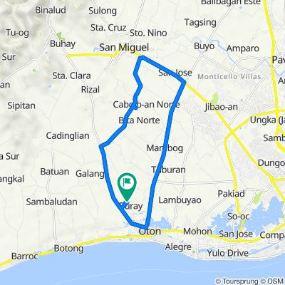 Unnamed Road, Oton to Unnamed Road, Oton