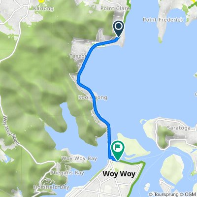 1 Kurrawa Avenue, Point Clare to 100 Brick Wharf Road, Woy Woy (Perfect for E-bike)