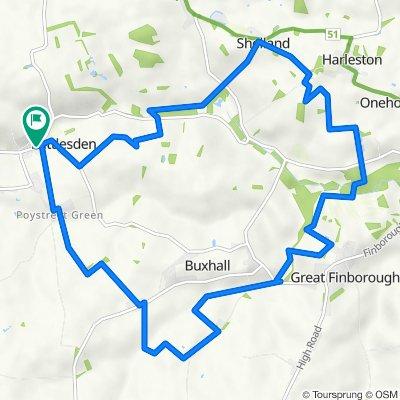WALK - Great Finborough loop (9.4 miles)