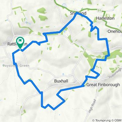 WALK - Great Finborough loop (9.1 miles)