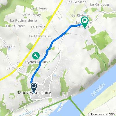De 1B–3 Rue du Cellier, Mauves-sur-Loire à 236 Rue du Chêne Chartier, Mauves-sur-Loire