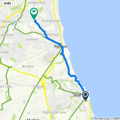 4 Alfred St E, Seaham to 7 Tunstall Hill Close, Sunderland