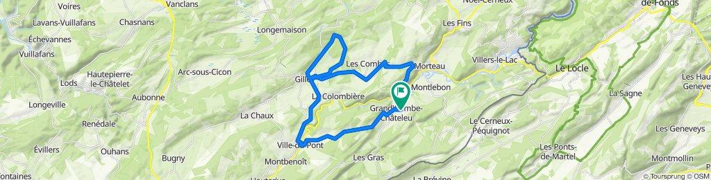 De 22 La Moilleseule, Grand'Combe-Châteleu à 22 La Moilleseule, Grand'Combe-Châteleu